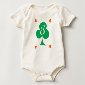 Lucky Irish 8 of Clubs, tony fernandes Baby Bodysuit