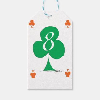 Lucky Irish 8 of Clubs, tony fernandes Gift Tags