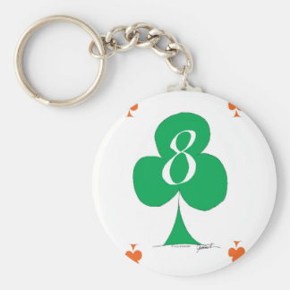 Lucky Irish 8 of Clubs, tony fernandes Keychain