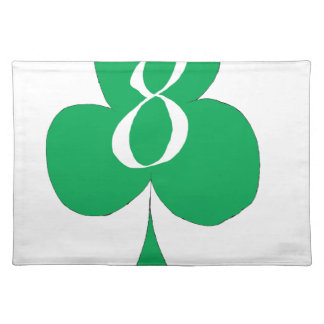 Lucky Irish 8 of Clubs, tony fernandes Placemat