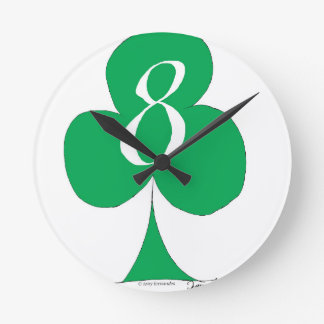 Lucky Irish 8 of Clubs, tony fernandes Round Clock
