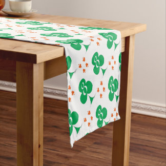 Lucky Irish 8 of Clubs, tony fernandes Short Table Runner