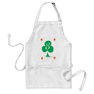 Lucky Irish 8 of Clubs, tony fernandes Standard Apron