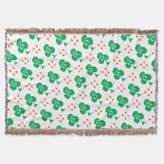 Lucky Irish 8 of Clubs, tony fernandes Throw Blanket