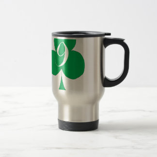 Lucky Irish 9 of Clubs, tony fernandes Travel Mug
