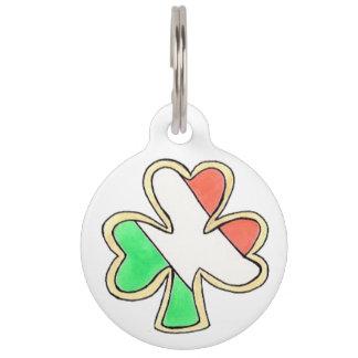 Lucky Irish Flag Shamrock Cookie Ireland Dog Tag