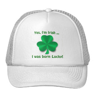 Lucky Irish Shamrock Golf Cap Trucker Hat