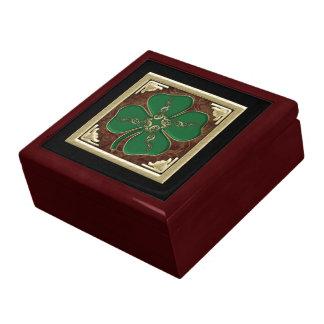 Lucky Irish Shamrock Keepsake Box
