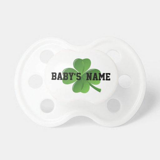 Lucky Irish shamrock Baby Pacifier