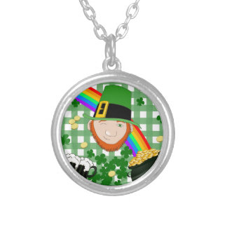 Lucky Irish Silver Plated Necklace