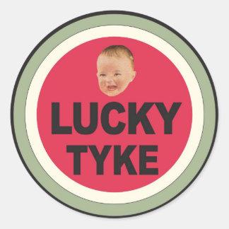 Lucky Kid Classic Round Sticker