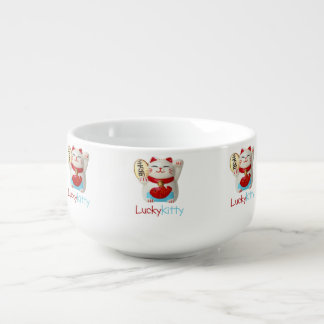 Lucky kitty soup bowl