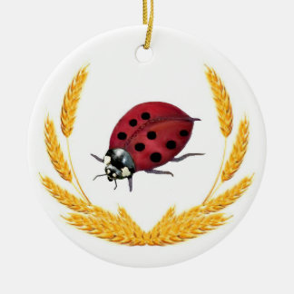 Lucky Lady Bug Ceramic Ornament