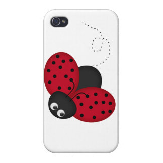 Lucky Lady Bug iPhone hard shell case Cases For iPhone 4