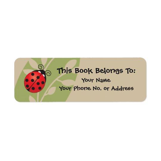 Lucky Ladybug Book Sticker