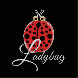 Lucky Ladybug Standing Photo Sculpture