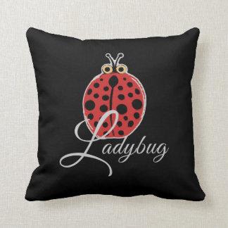Lucky Ladybug Throw Pillow