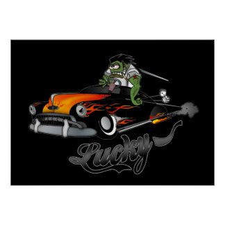 """Lucky"" Lead Sled Art Poster"