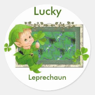 Lucky Leprechaun Classic Round Sticker