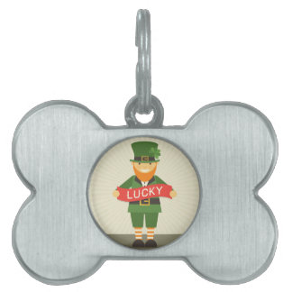 lucky leprechaun pet ID tag