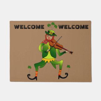 Lucky Leprechaun Welcome Doormat
