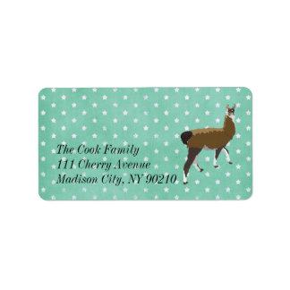 Lucky Llama Stars Label Address Label