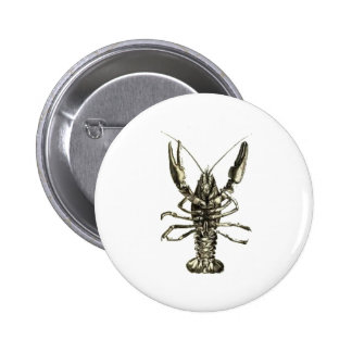 Lucky Lobster Pencil Sketch 2 Inch Round Button