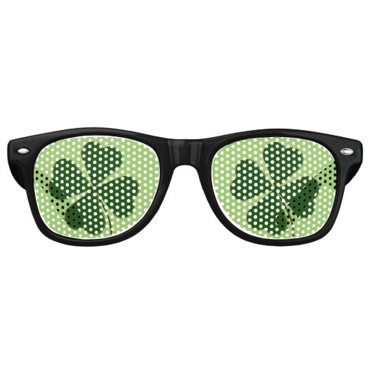 Lucky Man | Green Clover Party Sunglasses