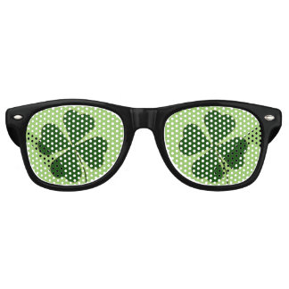 Lucky Man | Green Clover Retro Sunglasses