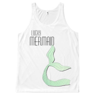 Lucky Mermaid Tail Tank Top by Mostly Mermaid