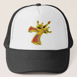 Lucky Number 7 with Crown Tattoo Trucker Hat