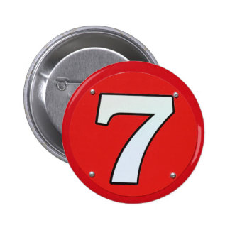 Lucky Number Seven 2 Inch Round Button