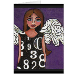 LUCKY NUMBERS ANGEL - greeting card