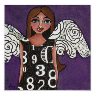 Lucky Numbers Angel - print