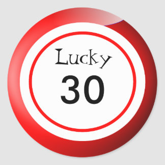 Lucky Numbers Bingo Balls Themed Classic Round Sticker