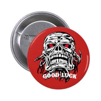 Lucky Nut 2 Inch Round Button