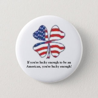 Lucky Patriot 2 Inch Round Button