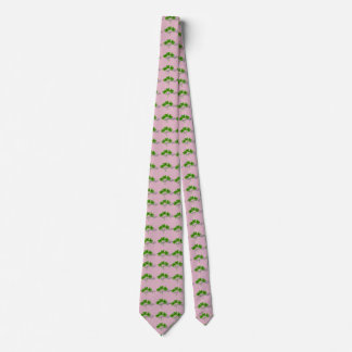 Lucky Pink & Green Four Leaf Clover Tie