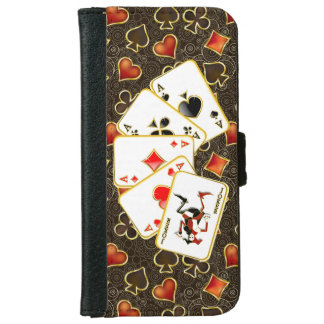 Lucky Poker Cards -  iPhone 6 iPhone 6 Wallet Case
