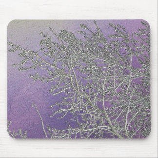 Lucky Purple n Silver Streaks V5 Mouse Pad
