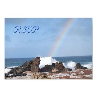 Lucky Rainbow Wedding RSVP Cards