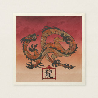 Lucky Red Dragon, 龙 Disposable Napkins