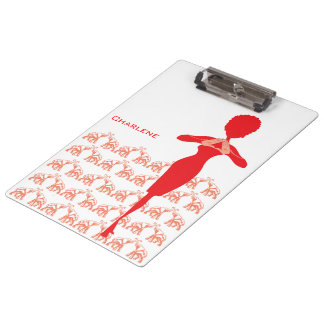 Lucky Red Elephant Clipboard
