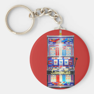 Lucky Red Slot Machine Jackpot Keychain