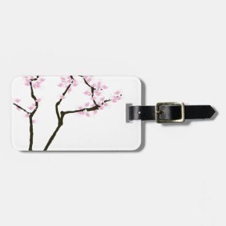 lucky sakura and pink goldfish, tony fernandes luggage tag