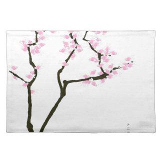 lucky sakura and pink goldfish, tony fernandes placemat