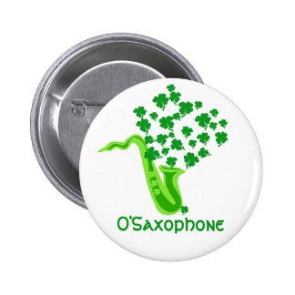 Lucky Saxophone 2 Inch Round Button
