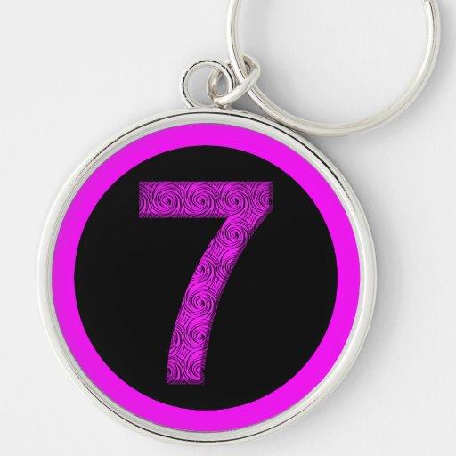 Lucky Seven Vibrational Spirals Key Chain