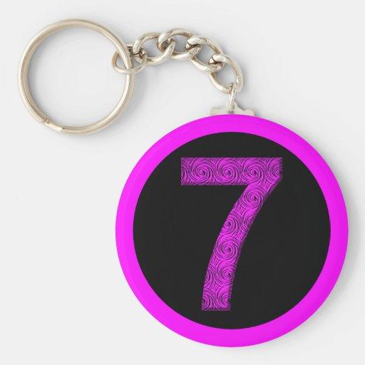 Lucky Seven Vibrational Spirals Key Chains