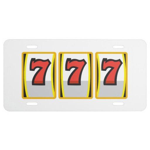 Lucky Sevens License Plate